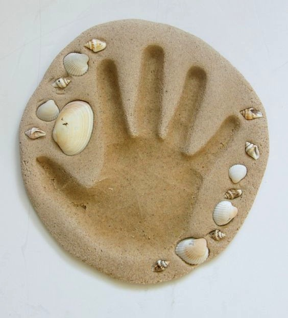 sand hand print